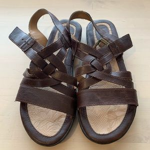 B.O.C. Sandals Women's Size 10M Brown Leather
